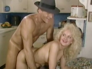 Curly blondes are fucking with hard prick