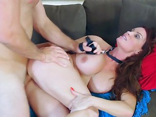 Home alone mom, Diamond Foxxx, craves for something a bit harsh and calls in her step son to bang the shit out of her greedy pussy and ass