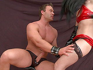 Experienced mistress Nina knows how to make a fellow jizz all over