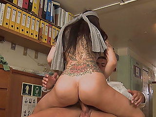 hot Sophia Santi adores doggy style after a blowjob on the floor