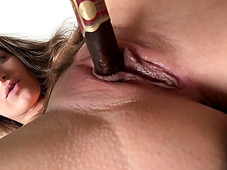Sexy Brunette Milf Loves Dipping Her Cigar!