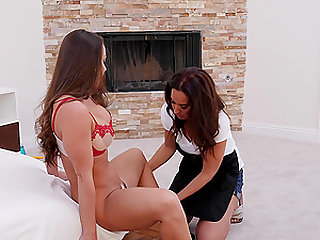 amazing Isis Love adores pussy licking and good fuck with Abigail Mac
