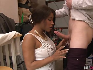 Punishing his Busty Black Stepsister