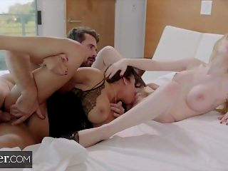 Deeper. Bunny's First Threesome with Escort Autumn Falls