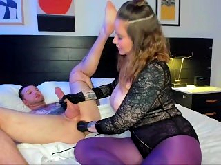 Handjob and prostate milking