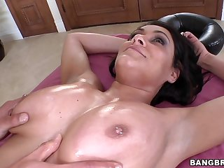 Sexy Brunette Enjoys Her Body at the Beach and Gets Fucked at Home