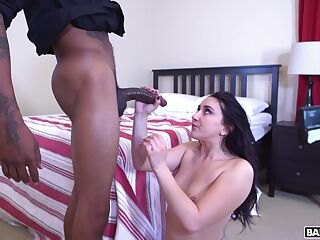 Hot ass brunette Mandy Muse craves for a large dick and gets fucked