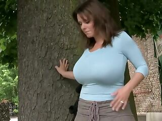 Milena behind the Tree