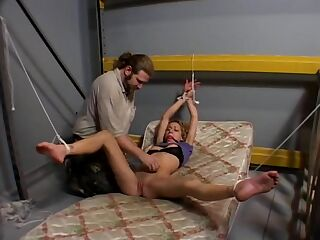 Ultra Sexy Blonde Bound Ballgagged And Fucked While Drooling