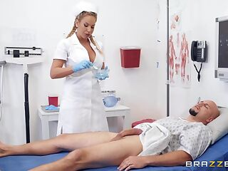 Olivia is a smashing blonde nurse and every man wants to go to her office