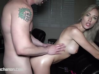 MAZZY GRACE GETS IT HARD IN ALL 3 HOLES Part 1