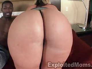 Blonde Milf Leaves Black Guy Exhausted With Her Big Ass After Interracial Sex