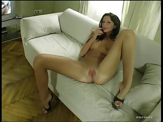 Extremely Beautiful Amateur Brunette Has Fun With a Big Cock