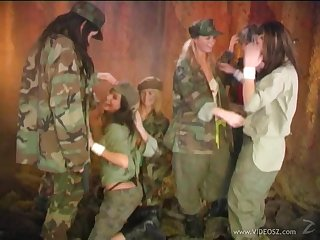 Female Army Squad Leaves War Aside To Make Hot Juicy Love