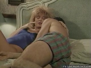 Nina Hartley gets her wet pussy licked and fingered
